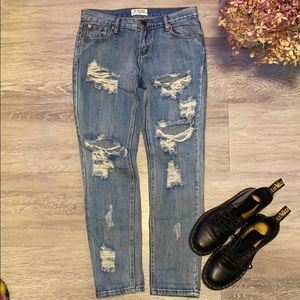 One by One teaspoon Ripped Jeans